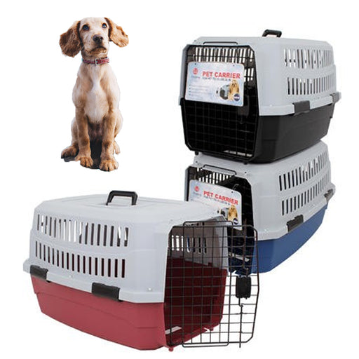 1 Pet Carrier Portable Medium Dog Cat Crate Travel Light Weight Cage Kennel Case