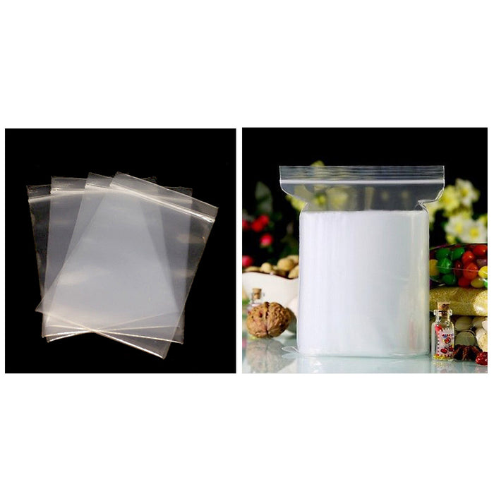 300 Pc Clear 2Mil Plastic Seal Top Zip Lock Reclosable Poly Jewelry Bags Crafts