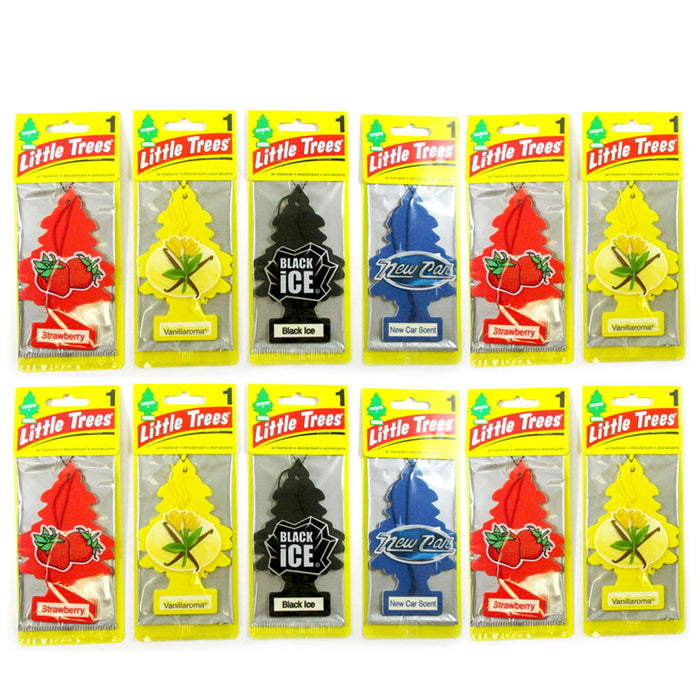 12 Little Trees Air Freshener Hanging Car Auto Home Office Room ...