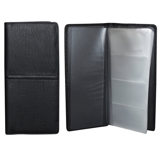 4 Business Card Holder 48 Removable Organizer Book Wallet Case Office Black