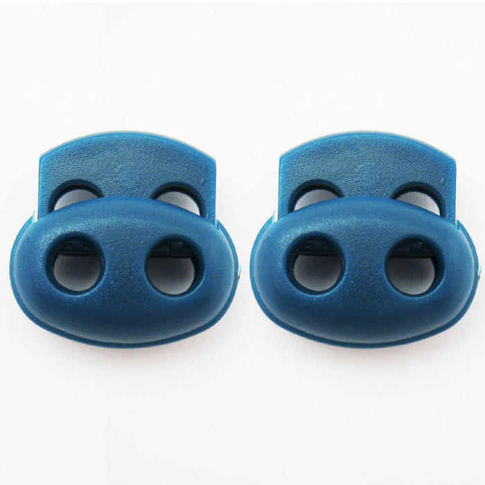 2 Shoe Lace Shoelace Buckle Rope Clamp Cord Lock Stopper Run Sports Blue New !!!