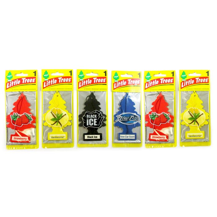 6PK Car Air Fresheners Little Trees Auto Assorted Scents Hanging Home Office New