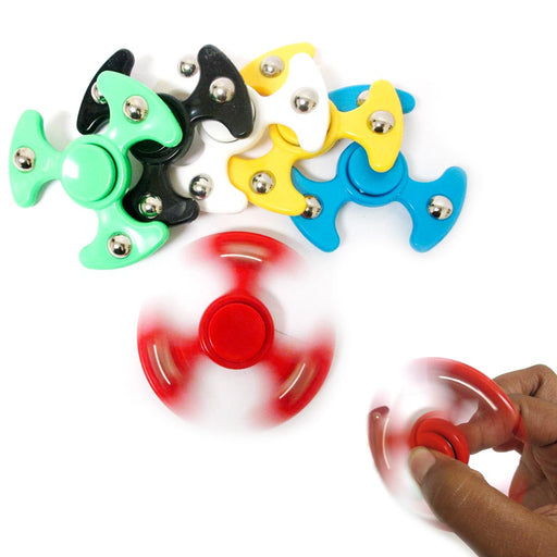 12 Pc Tri Fidget Spinner Toy UFO Space Metal Ball EDC Hand Finger SpinFocus ADHD