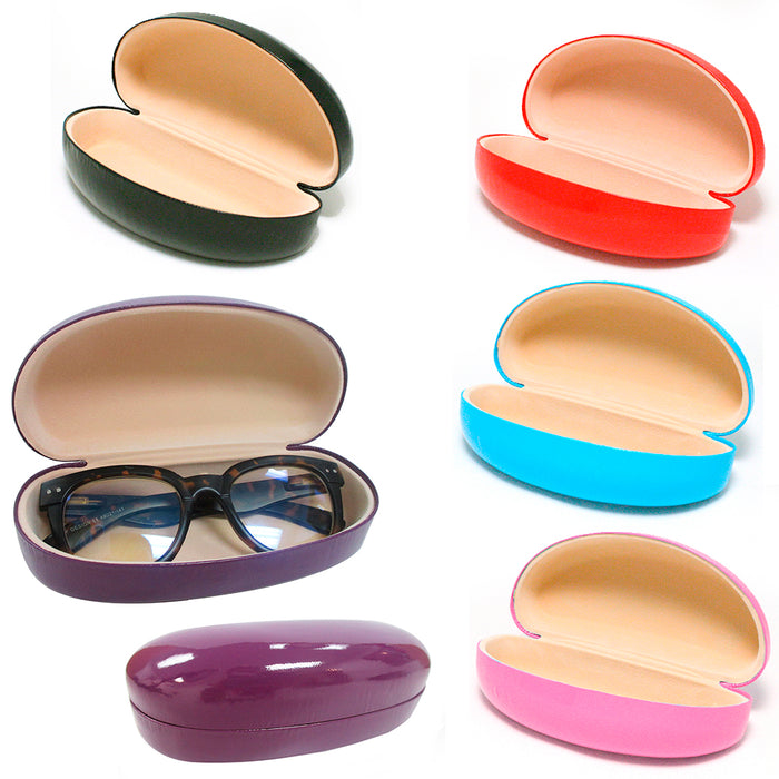 1 Large Hard Case Sunglasses Eye Glasses Case Box Portable Clam Shell Protector