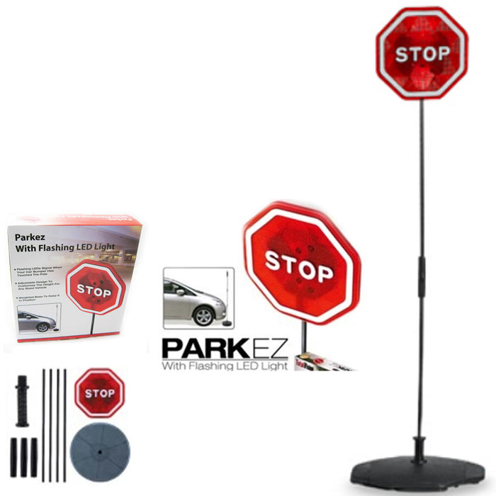 PARKING STOP SIGN PARKEZ FLASHING LED LIGTH CAR GARAGE SYSTEM SIGN AID SENSOR !!