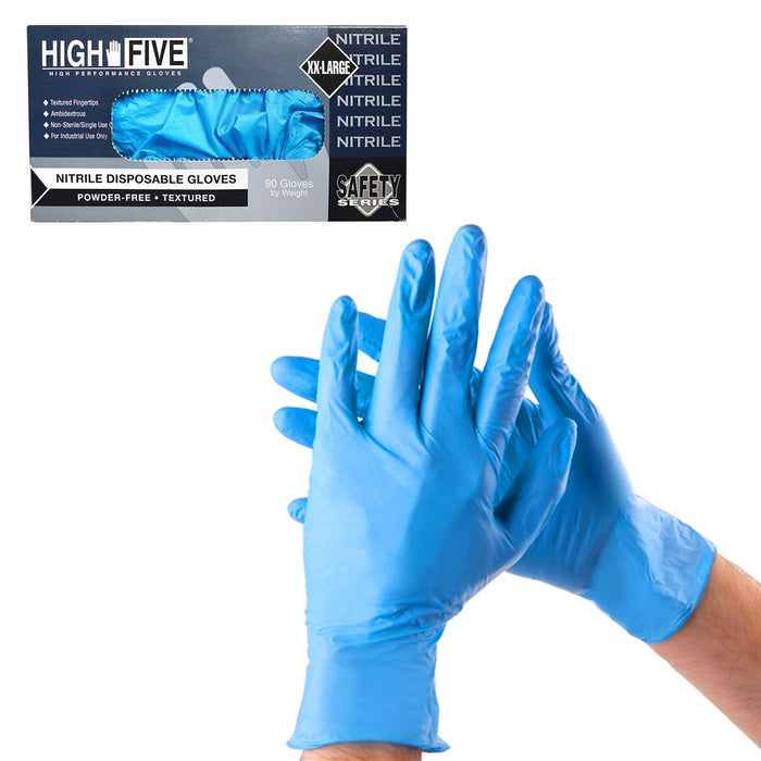 200 Nitrile Disposable Gloves Powder Free Non Latex Food Grade Cleaning XLarge