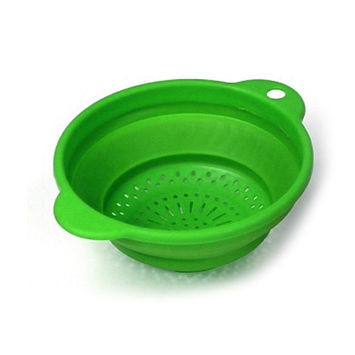 "2 Collapsible Colander Silicone Strainer 7.5"" Kitchen Sink Pasta Drainer Tool"