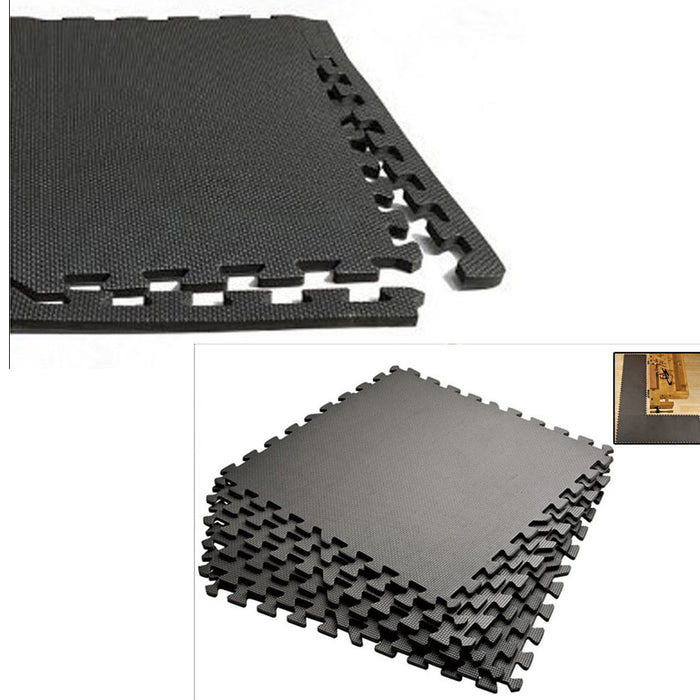 72 SQ FT INTERLOCKING EVA FOAM FLOOR PUZZLE WORK GYM MATS PUZZLE MAT LOT GREAT