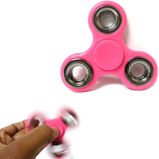 Pink Gyro Fidget Spinner Silver Toy EDC Hand Finger Desk Focus ADHD Kids Adults
