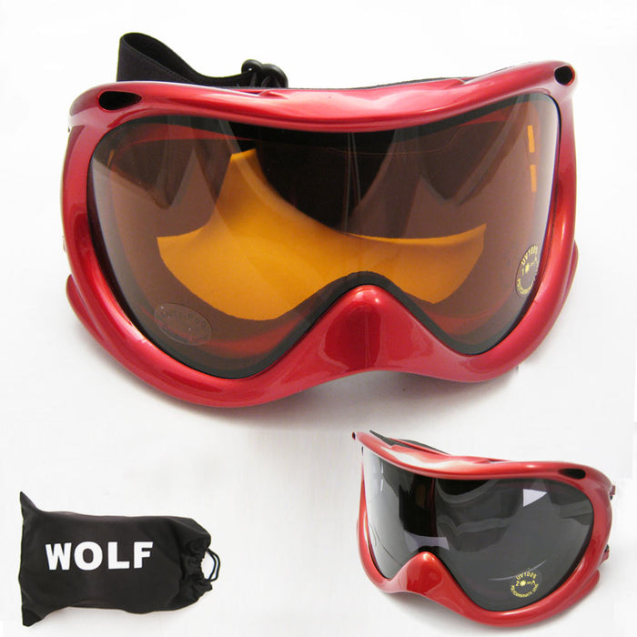 Dustproof Goggles Motorcycle Ski Snowboard Lens Sunglasses Anti-fog Mens Womens
