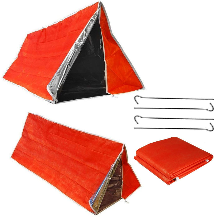 Emergency Tube Tent Survival Hiking Camping Shelter Outdoor Portable Waterproof