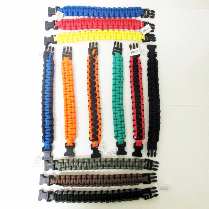 5 Pc Wrist Bracelet Paracord 550 Cord Survival Slip Slide Rope Band Camping Gear