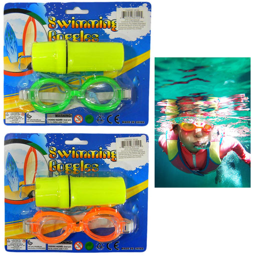 4 Pc Kids Swimming Goggles Swim Glasses Anti Fog Adjustable Straps No Leaking