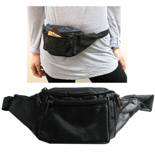 20 Waist Pouch Fanny Pack Adjustable Utility Bag Belt Hip 4 Pocket Travel Sport