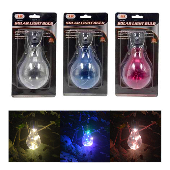 3 Pc Solar LED Bulbs Outdoor String Lights Patio Party Home Yard Garden Wedding