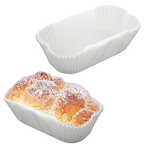 48 Pc Non-Stick Loaf Bread Baking Liners Oven Paper Molds Parchment Bake Cake
