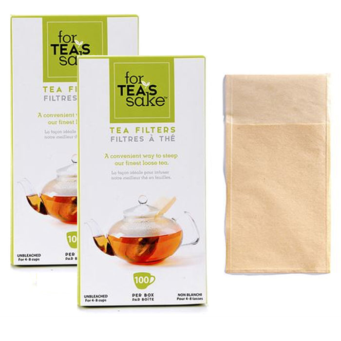 200 Unbleached Tea Filter Bags Disposable Biodegradable for Loose Leaf Sachet