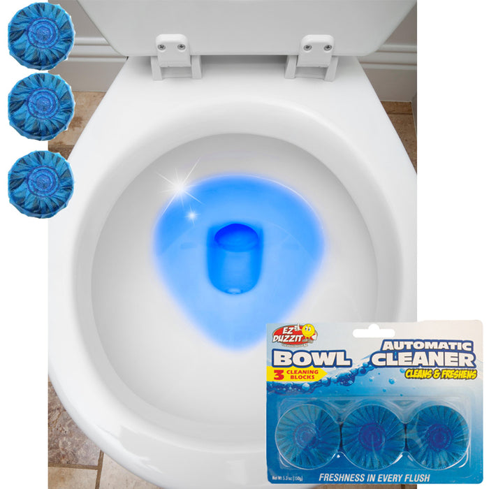 120 X Automatic Bleach Toilet Bowl Cleaner Stain Remover Blue Tablet Flush Tank