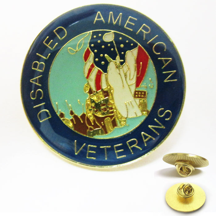3Pc US Disabled American Veteran Lapel Pin Military Hero Veterans Hat Pin Forces