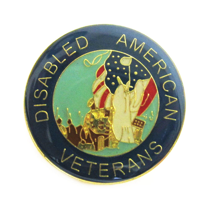 1 Disabled American Veteran Pin Military Hero US Veterans Hat Lapel Pin Enamel
