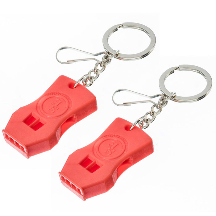 2 Pc Raptor Survival Whistle Emergency Signal Outdoors Rescue Camping Hiking