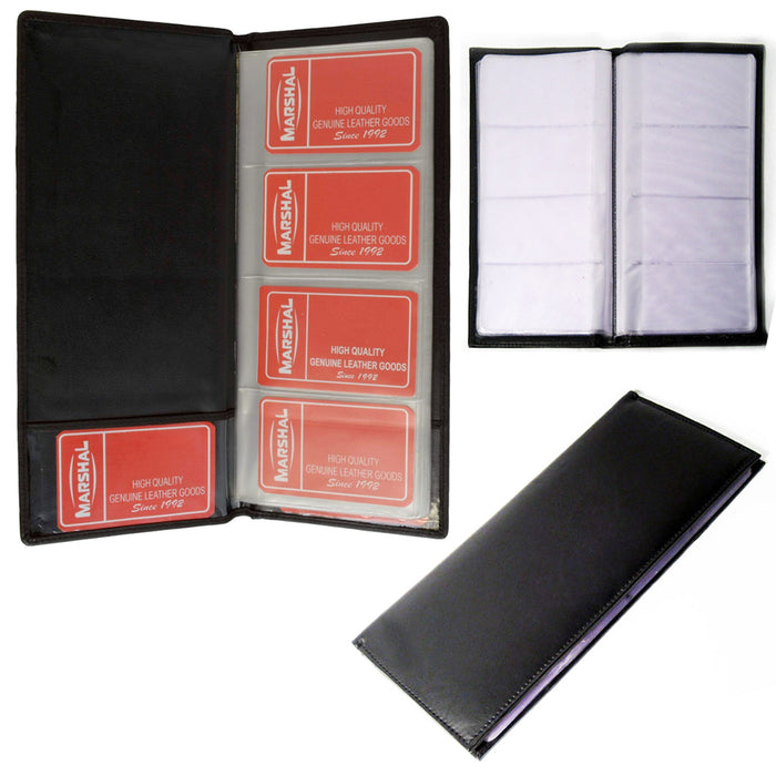 Genuine Leather Business Card Holder Book Organizer 96 Black Office Executives