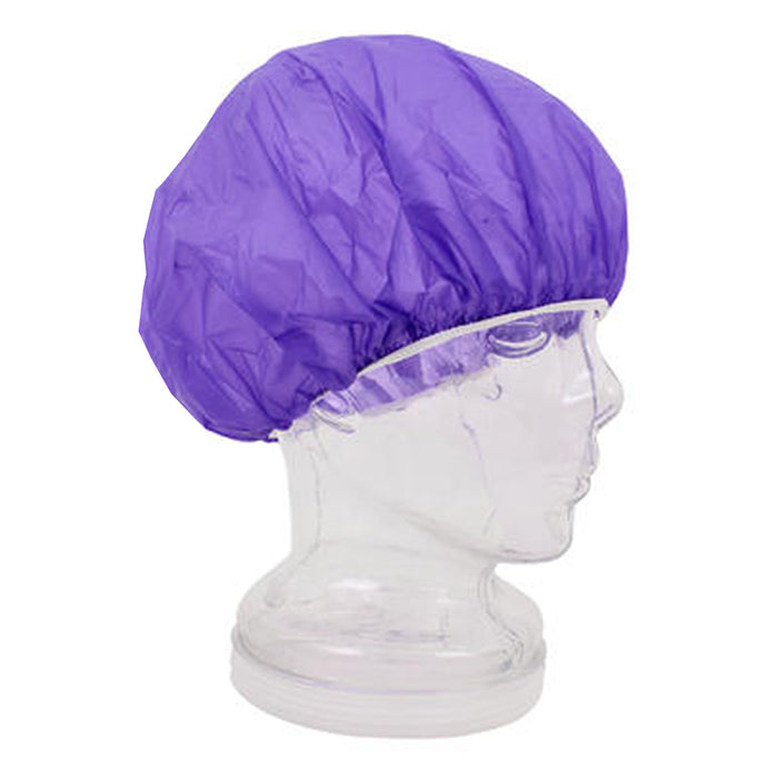 8 X Womens Purple Shower Caps Bath Hat Waterproof Elastic Band Protects Hair