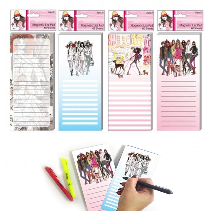 4 Magnetic Fashion Note Pad Grocery Shopping To Do List Memo Refrigerator Magnet