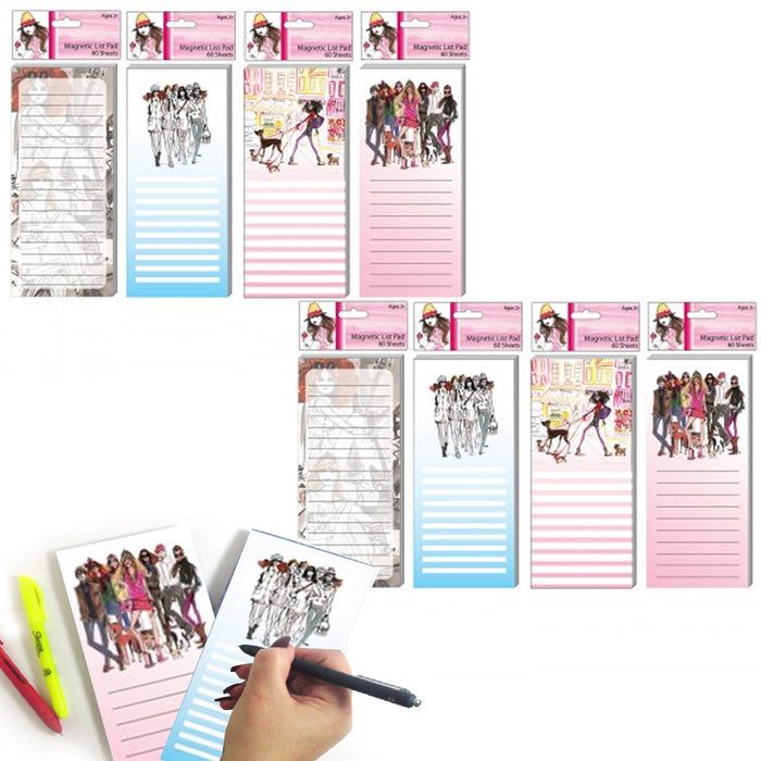 8 Magnetic Fashion Note Pad Grocery Shopping To Do List Memo Refrigerator Magnet