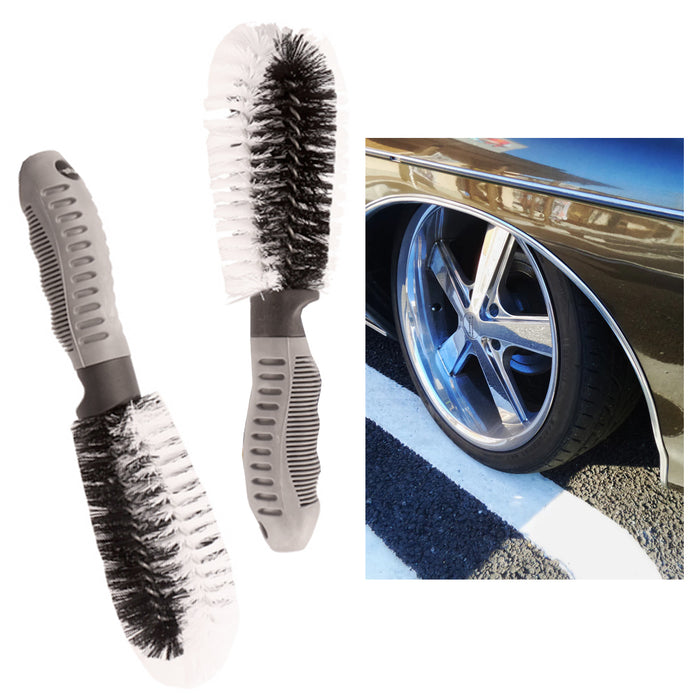 2X Car Wheel Tire Rim Scrub Brush Washing Cleaner Vehicle Cleaning Tool Auto Car