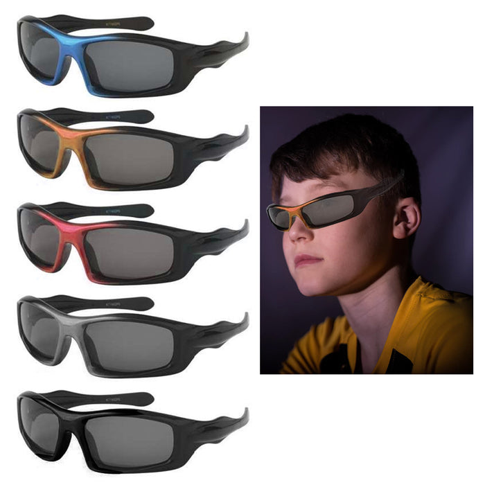 2 Pc Kids Sport Wrap Frame Sunglasses Polarized Baby Toddler Boys Girls Glasses