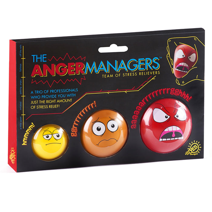 3 Pc Anger Management Balls Stress Reliever Squeeze Hand Pain Stress Relief