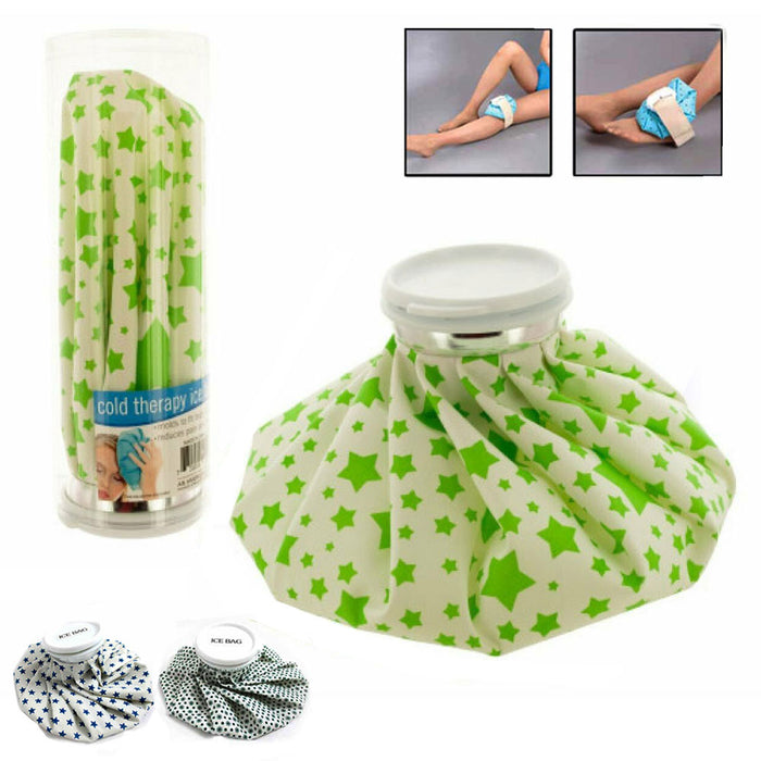 Reusable Ice Bag Pack 9 Inch Cold Therapy English Ice Cap Design First Aid Pain