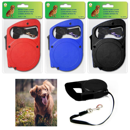 1 Pc 16 Ft Retractable Dog Leash Extending Lead for Medium Large Dogs Pet Auto