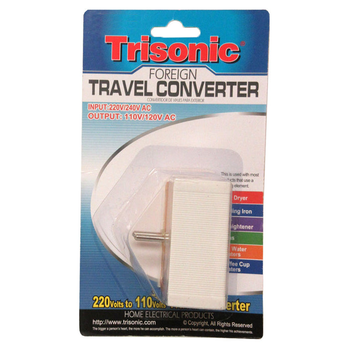 TRAVEL VOLTAGE CONVERTER ADAPTER 1600W 4 PLUGS 220 110V
