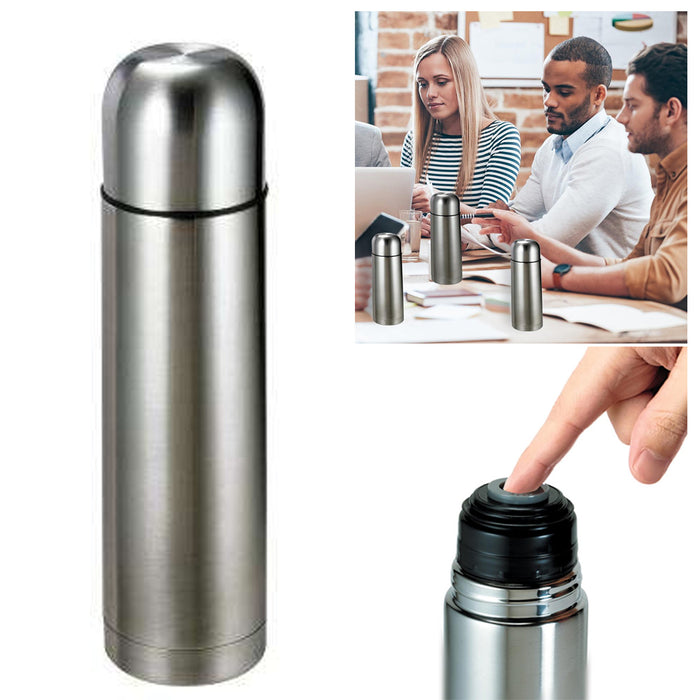 1 Thermos Coffee Bottle Stainless Steel Vacuum Flask Travel 17 Oz Unbreakable