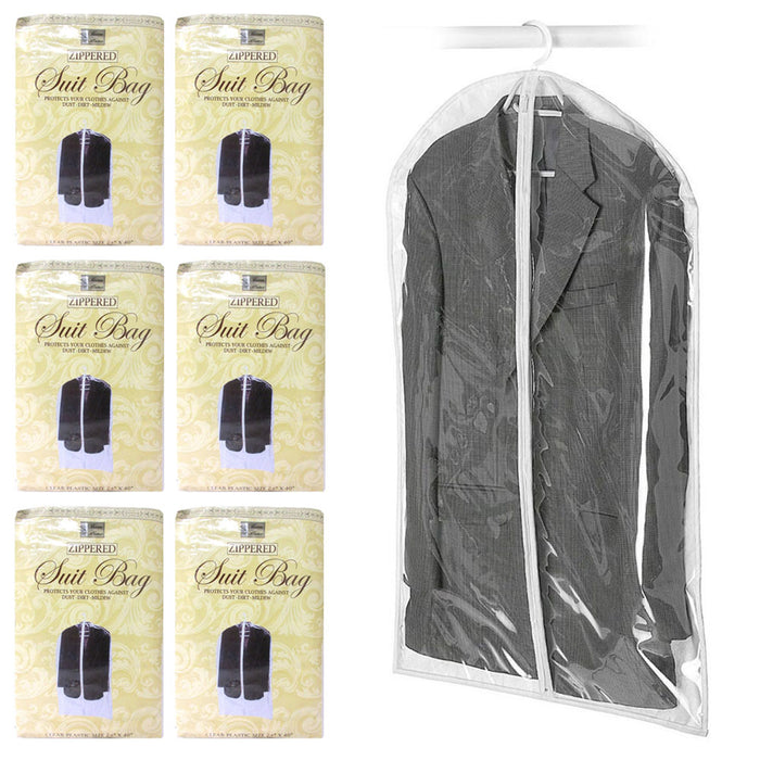 "6X Suit Garment Storage Bags 40"" Protective Jacket Cover Top Storage Dust Travel"
