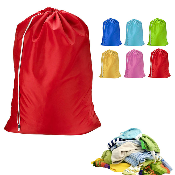 6 Heavy Duty Laundry Nylon Duffle Durable Wash Dirty Clothe Hamper Reusable Tote