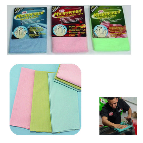 2 Set Microfiber Towel Auto Detailing Car Cloths Cleaning Polishing Absorbent !
