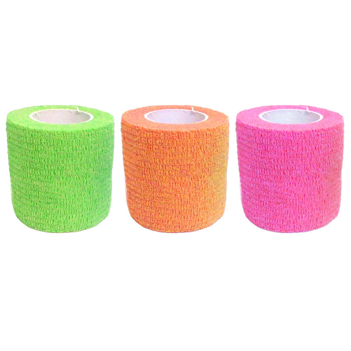 3 Pc Self Adhesive Elastic Bandage First Aid Medical Health Care Treatment Tape