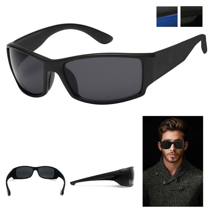 Rectangular Gangster Black Shades Mens Designer Sunglasses Cholo Dark Lens Biker