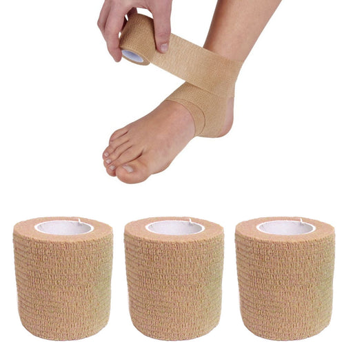 3 Self Adhesive Athletic Sports Bandage Stretch Wrap Adhering Adherent Tape Grip