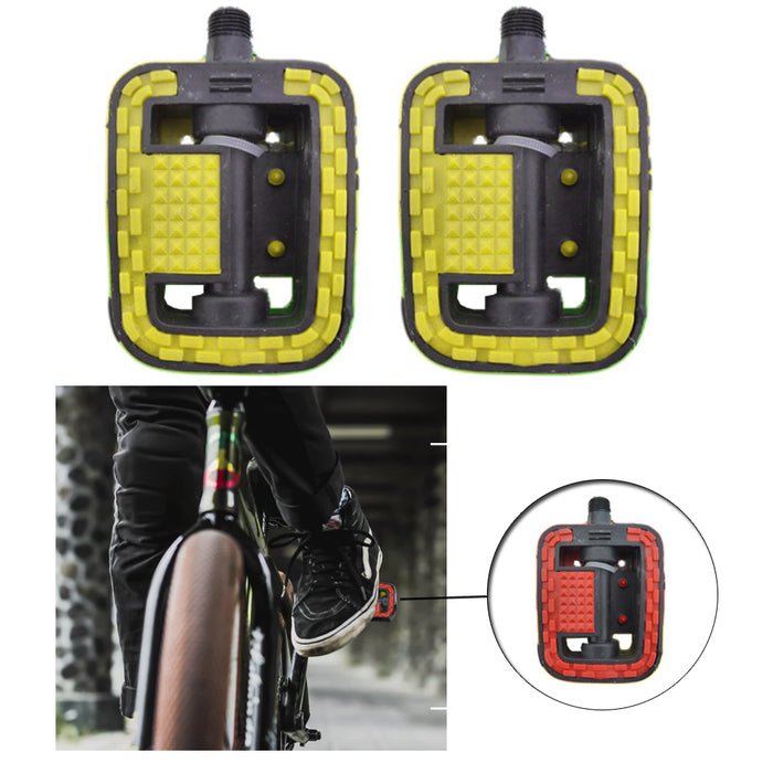2 Bike Pedals Bicycle Pedal Set Replacement Universal Pair Road Cycling Reflect