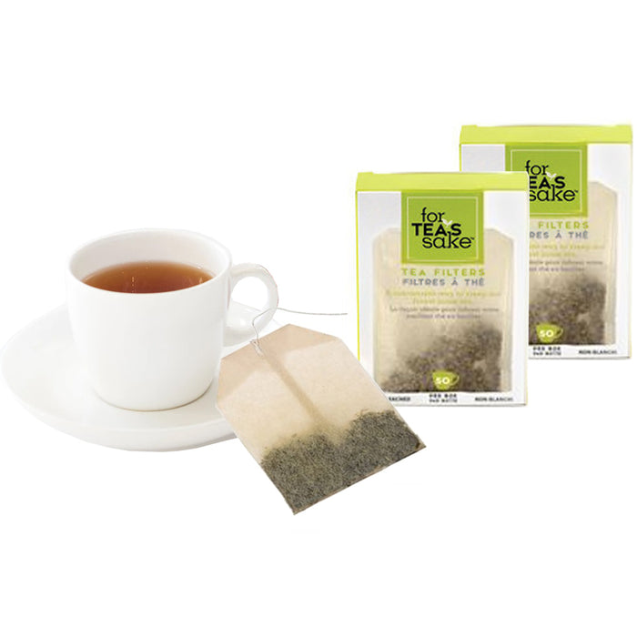 100 Unbleached Tea Filter Bags Steep Loose Leaf Sachet Disposable Biodegradable