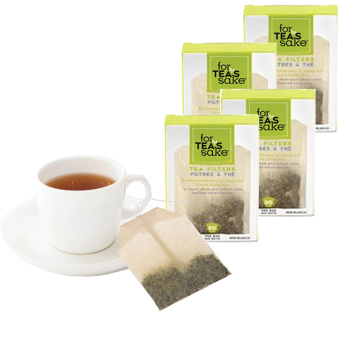200 Unbleached Tea Filter Bags Steep Loose Leaf Sachet Disposable Biodegradable