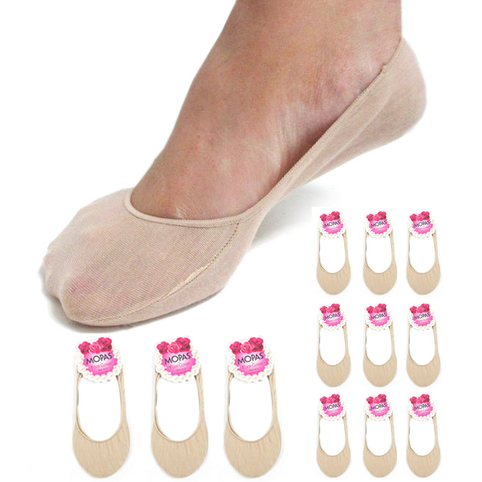 12 Pairs Nude Womens No Show Socks Footies Loafer Boat Liner Low Cut Girls
