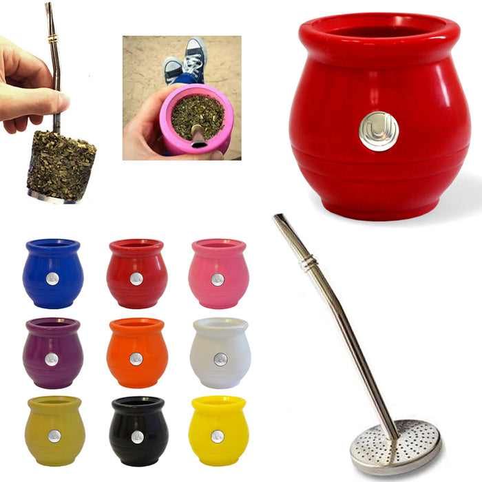 1 Argentina Mate Urbano Gourd Bombilla Straw Filter Remover Yerba Assorted Color