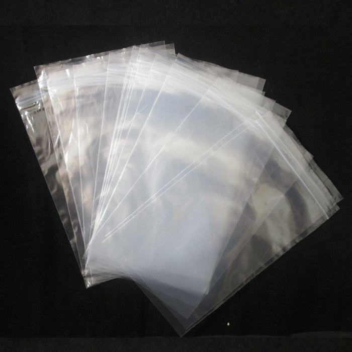 50 Pc Bag Plastic Clear Assorted Size Reclosable Poly Reusable Baggies