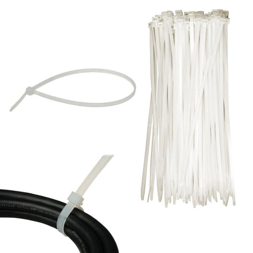 "100 Pc Cable Zip Ties 6"" Inch Clear Nylon Wire Cords Uv Resistant Tools New"