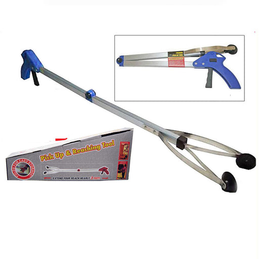 "2 Folding Pick Up Reaching Tool 29"" Easy Reach Grab Grabber Stick Extend Reacher"